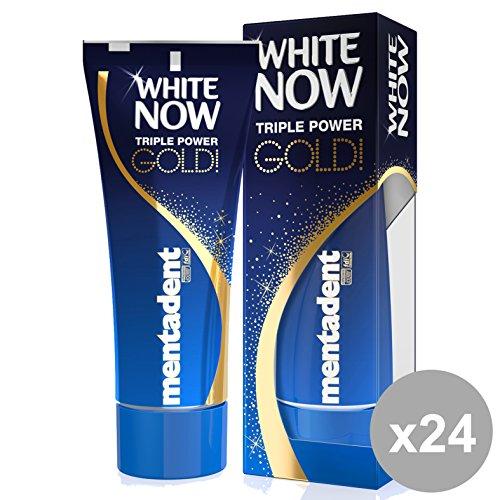 Set 24 MentaDENT Dentifricio WHITE NOW GOLD 50 Ml. Prodotti per il viso