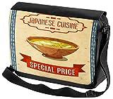 LEotiE SINCE 2004 Umhänge Schulter Tasche Asiatische Kunst gebratener Reis bedruckt Japan China