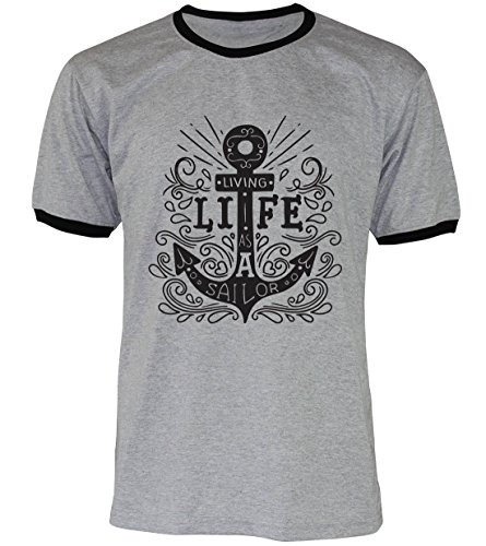 PALLAS Unisex's Anchor Vintage Funny T Shirt GREY2