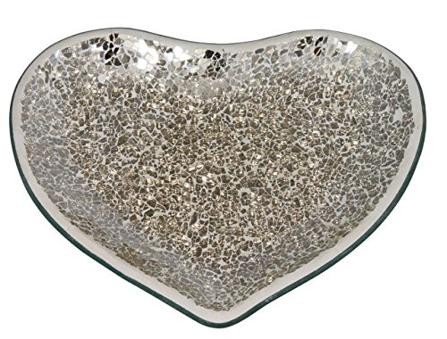 Big Living 21.5 cm Mercury mosaïque Heartcandle Plaque