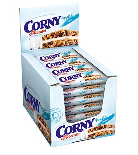 CORNY Milch Classic DER GROSSE, Milchsandwich, 24er Pack (24 x 40g Riegel) - Trocken-milch-bad