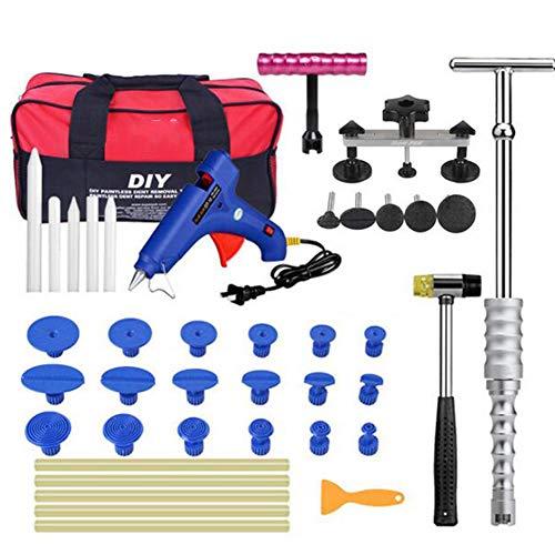 Auto Reparatur Kit Ausbeulen Ohne Reparatur Brige Puller Werkzeuge Kits Klebepistole Sticks Hammer -