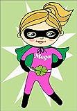 POSTERLOUNGE Alu Dibond 90 x 130 cm: Our superhero Nadja by Little Miss Arty