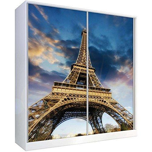 JUSTyou Foto Kleiderschrank Garderobenschrank Schwebetürenschrank (HxBxT): 214x200x62 cm Paris