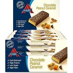 Atkins ADV Peanut Caramel Barritas - Paquete de 16 barritas x 60 gr - Total: 960 gr