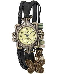 Naivo Women's Quartz Leather Casual Watch, Color:Black (Model: NAIVO-WATCH-1196)