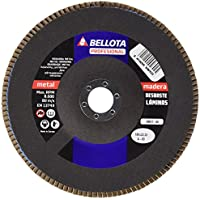 BELLOTA 50611-60 Disco Laminas Base Fibra DE Vidrio DESBASTE Metal-Corindon (A60) 180MM