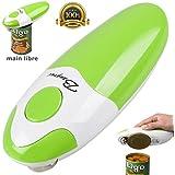 BangRui Mains libres Rapide Sécuritaire Ouvre-boîte électrique et automatique du bord lisse (Vert)