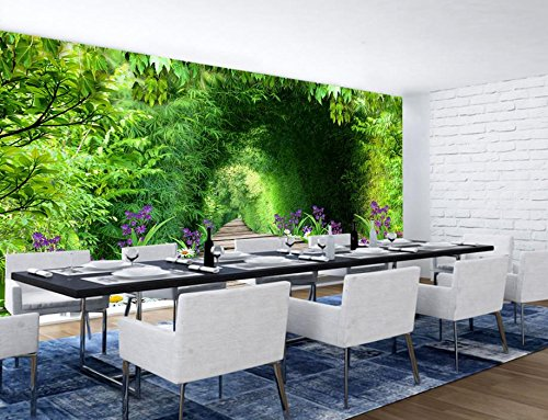 Vinilo decorativo Papel tapiz moderno Fondo de pantalla de cascada Paisaje para sala de estar HD paisaje de naturaleza Papel tapiz 3D Pintura Papel tapiz-350X250CM-450X300CM