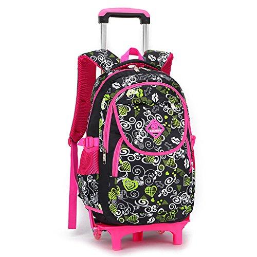 Imagen de gudehome  con trolley  con ruedas y asa telescópica niños de  escolares negro + rosa