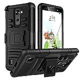 MoKo LG Stylus 2 Plus Hülle - [Heavy Duty Serie] Outdoor Dual Layer Armor Case Handy Schutzhülle Schale Bumper mit Gürtelclip und Standfunktion mit Gürtelclip für LG Stylus 2 Plus 5.7 Zoll 2016 Smartphone, Schwarz
