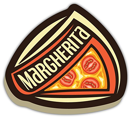 SkyBug Margherita Pizza Bumper Sticker Vinyl Art Decal for Car Truck Van Window Bike Laptop