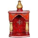 DECAGO Wooden Handmade Puja Temple, Pooja Ghar for Home 30 cm