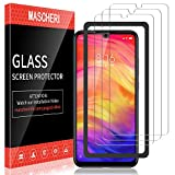MASCHERI Verre Trempé pour Xiaomi Redmi Note 7 / Redmi Note 7 Pro Protégé écran [3 Pack ] Film ecran de Protection écran pour Redmi Note 7 / Redmi Note 7 Pro - Transparent