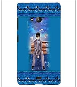 PrintDhaba Fantasy boy D-5715 Back Case Cover for MICROSOFT LUMIA 540 (Multi-Coloured)