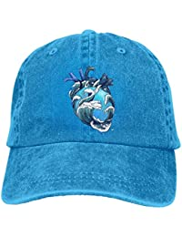 Miedhki Ocean Heart Unisex Washed Adjustable Fashion Cowboy Hat Denim  Baseball Ningunos New7 7e29964768b4