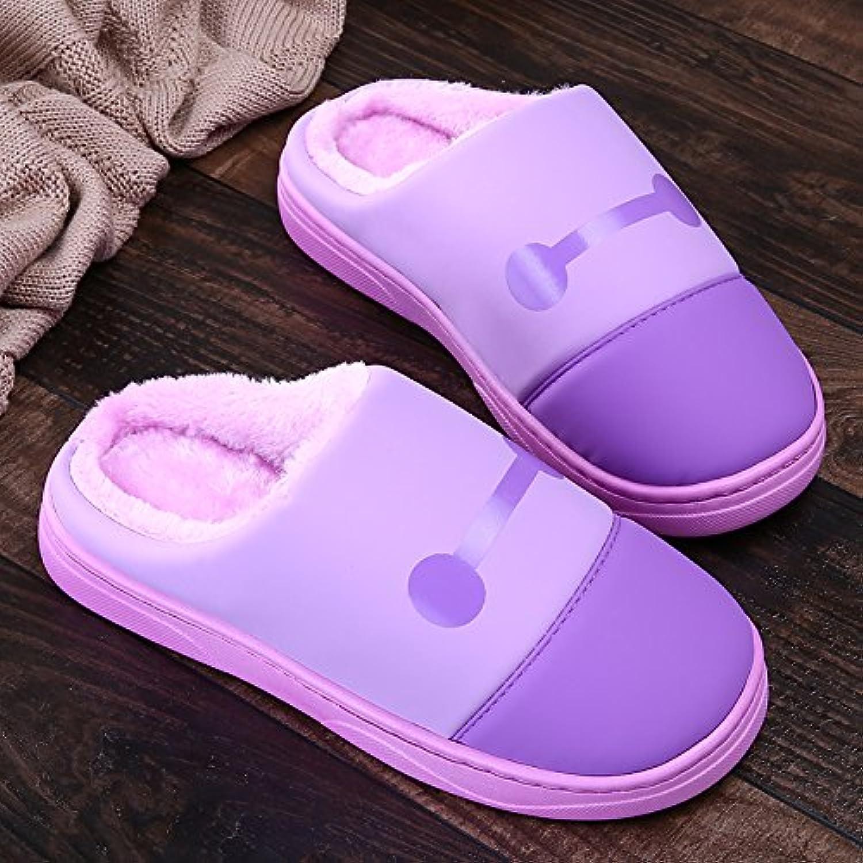 d02617b4fa2c LaxBa Femmes Hommes Chaussures Slipper antiglisse à à antiglisse  l intérieur violet ...