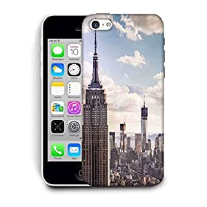 Snoogg Building And Cloud Printed Protective Phone Back Case Cover For Apple Iphone 5C