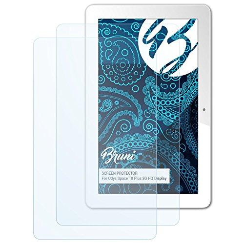 Bruni Schutzfolie für Odys Space 10 Plus 3G HQ Bildschirm Folie, glasklare Bildschirmschutzfolie (2X)