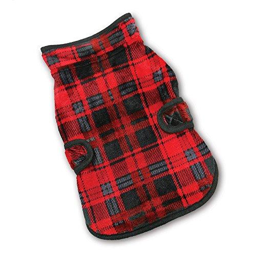 Best Pet Supplies 250-drd-s Voyager Wende Winddicht Pet Fleece Jacke, klein, rot/schwarz Checkers -