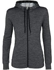 super natural Merino Funktionsjacke Track Zip Hoodie 220 - Sudadera de náutica para mujer, color gris, talla XS