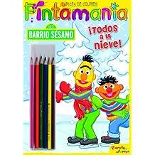 Barrio Sésamo. Pintamanía Lápices de Colores: ¡Todos a la nieve! (Barrio Sesamo)
