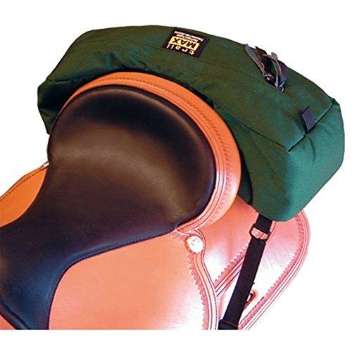 Trailmax Cantle Pocket, Satteltasche Western Packtasche, Bananenpacktasche grün