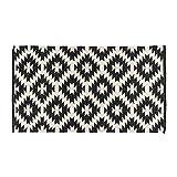 Homescapes handgewobener Kelim Teppich, Schwarz - Weiß, Zürich, 120 x 170cm