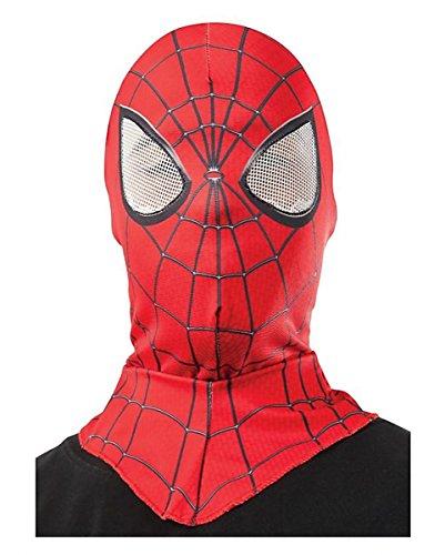 Spider Man Stoffmaske One Size | rot/schwarz für (Schwarze Man Kostüm Erwachsene Spider)
