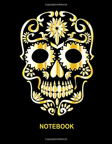 Notebook. Skull Cover Design. Blank Lined College Ruled Notebook Planner Journal Diary.