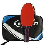 Caleson, racchetta da ping pong con doppia pala in carbone. Inclusa