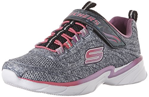 Skechers Kinder Swirly Girl Gore und Gurt Sneaker (Little Kid/Big Kid/Kleinkind)navy/multi 13,5 (Kleinkind Skecher Schuhe)