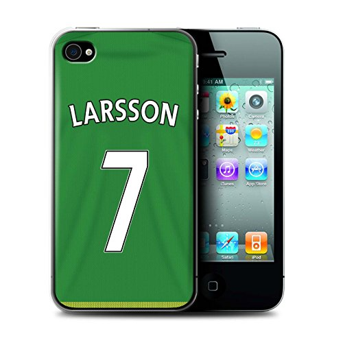 Offiziell Sunderland AFC Hülle / Case für Apple iPhone 4/4S / Pack 24pcs Muster / SAFC Trikot Away 15/16 Kollektion Larsson