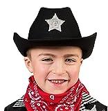 Déguisement Fete–Chapeau de cowboy avec étoile de shérif de Costume de cowboy enfant Costume, plusieurs couleurs