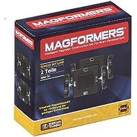 Magformers - Set per costruzioni magnetiche, include base e ruote, 2 pz.