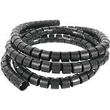 Gaine noire organisateur de câble spirale - 2 mètres