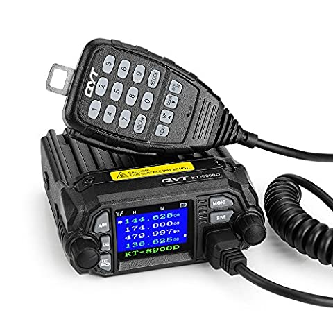 QYT KT-8900D 25W New Version Mobile Transceiver Two-Way Radios136~174/400~480MHz Quadstandby Amateur Car Radio-