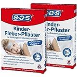 SOS Kinder-Fieber-Pflaster (2er Pack) - Zur Kühlung und Linderung (2x4 Gelpflaster)