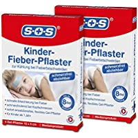 SOS Kinder-Fieber-Pflaster (2er Pack) - Zur Kühlung und Linderung (2x4 Gelpflaster) preisvergleich bei billige-tabletten.eu