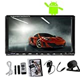 Android dual-core da 7 pollici touch screen Capactive 4.2 Autoradio Stereo Doppio 2Din 3G / Wifi GPS Car DVD CD In-dash Audio BT + macchina fotografica di sostegno