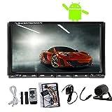 Android dual-core da 7 pollici touch screen Capactive 4.2 Autoradio Stereo Doppio 2Din 3G / Wifi GPS Car DVD CD In-dash Audio BT + macchina fotografica di sostegno