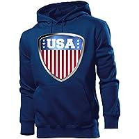 love-all-my-shirts USA Fussball Fanhoodie Männer Herren Hoodie Pulli Kapuzen Pullover Fanartikel