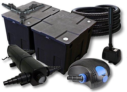 sunsun-filtro-set-per-60000l-stagno-con-24-w-laghetti-e-100-w-pompa-eco-25-m-tubo-fontana
