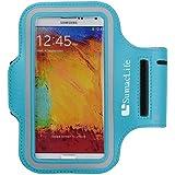 SumacLife Neopren Armband Sportarmband Sport-Jogging Gym Tasche Case für Samsung Galaxy Note 3/Note 2/S4/Nokia Lumia 1020/Wiko (blau)