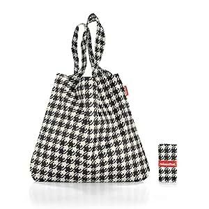 Reisenthel AT7028 Mini Maxi shopper fifties black, Polyester, schwarz-weiß, 60 x 7 cm