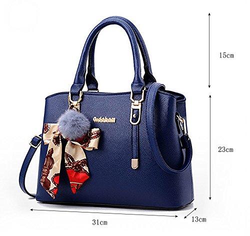 CLOTHES- Versione coreana della borsa donna borsa La nuova borsa della moda della personalità della spalla Big Ladies Borsa ( Colore : Viola ) Cielo blu