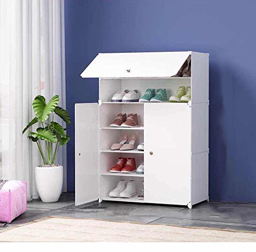 House of Quirk Plastic Shoe Rack, White