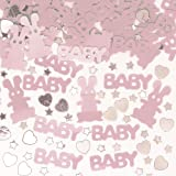 New Born Baby Girl Party Table Confetti with Little Stars & Hearts