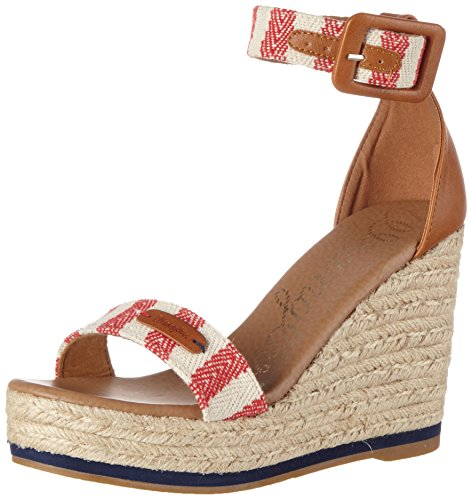 wrangler-kay-sandal-stripes-sandales-bout-ouvert-femme-rouge-rot-red-off-white-38-eu