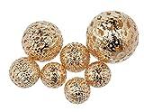 Metall Kugel Orient Gemischt (18 Stück), Champagner